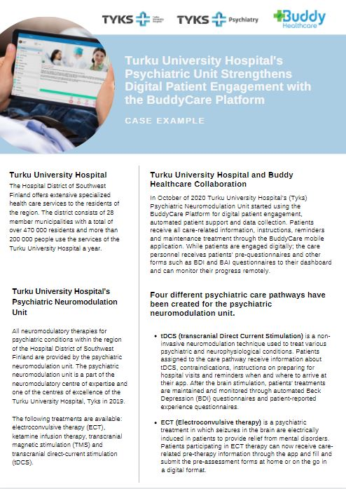 Digital psychiatry patient engagement case example