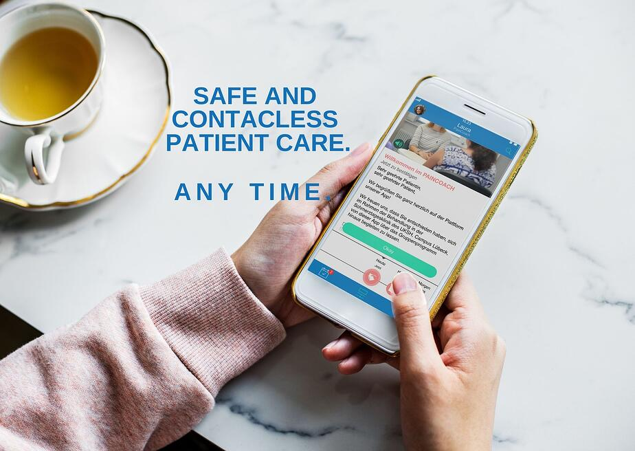 Safe and contacless patient care anytime new
