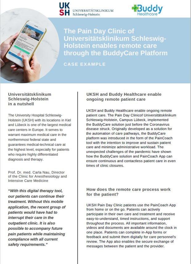 UKSH Pain Clinic Telemedicine Case Example