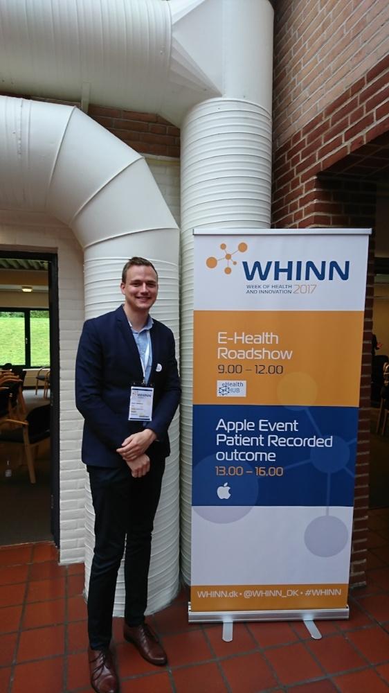 Peter Hänninen representing Buddy Healthcare at WHINN 2017.