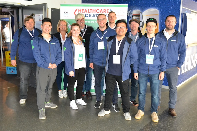 Buddy Healthcare's team at the Healthcare Hackathon in Kiel Germany