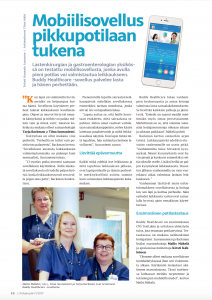 BuddyCare platform helps department of pediatric surgery and gastroenterology at Oulu University Hospital in care coordination