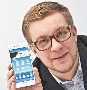 Buddy Healthcare's CEO Jussi Määttä presenting BuddyCare surgery app for patients