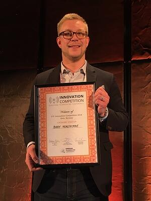 Jussi Määttä in ETC award ceremony.