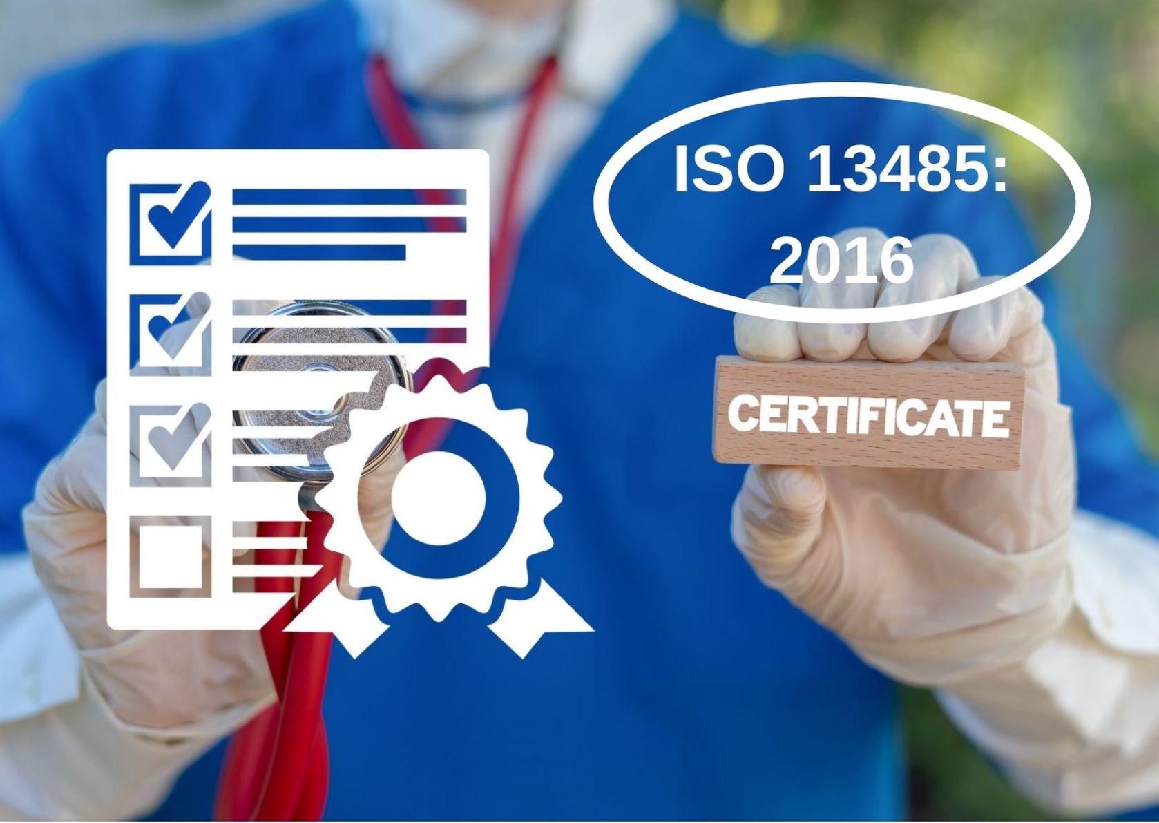 ISO 13485 certificate medium size