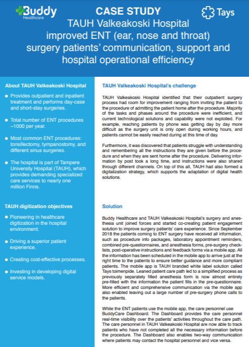 Tampere University Hospital ENT telemedicine case study