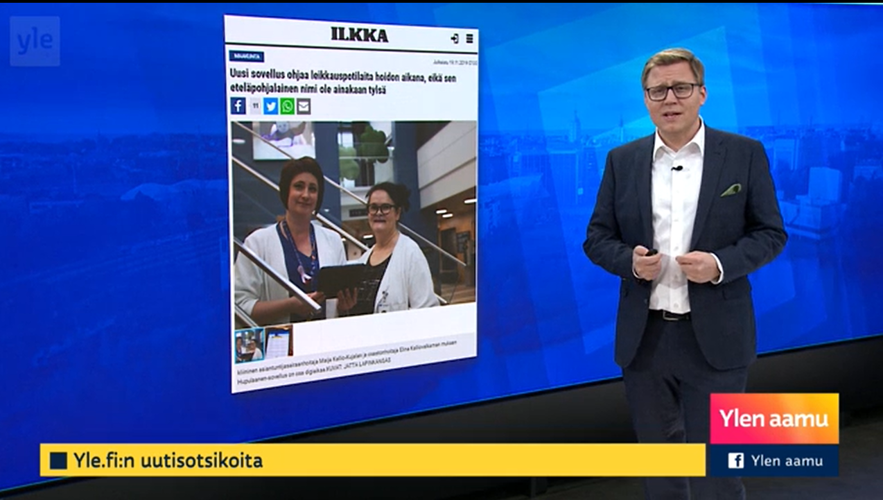 Yle news represented the Hospital District of South Ostrobothnia's app, which guides pediatric and orthopedic patients.