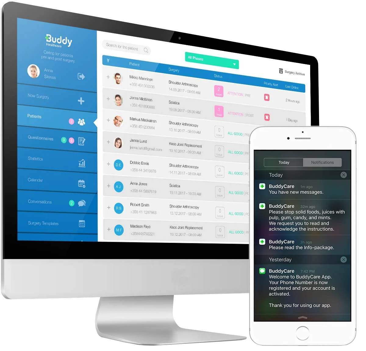 surgery-app-for-patients-and-realtime-dashboard-for-healthcare-professionals